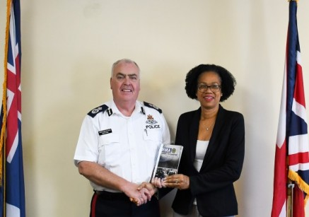 Commissioner Receives Copy of RVIPF Accounts of Hurricane Irma