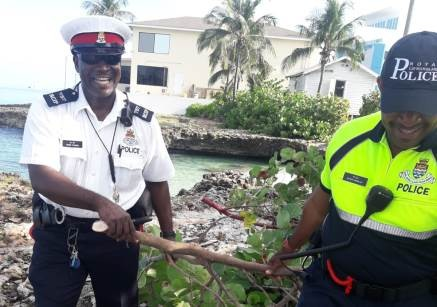 GT Community Officer Organizes Clean-up of Area on Waterfront, 15 August
