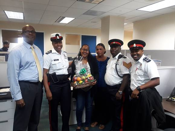 Bodden Town CPD Officers Organize Presentation to Frances Bodden Children's Home by CNB Staff Member