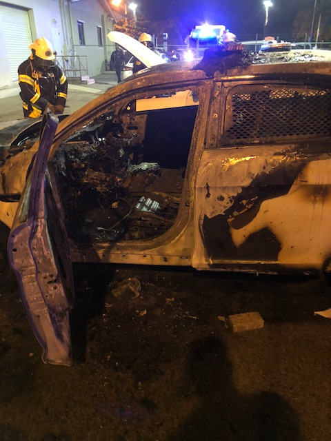 Arson on Police Vehicles Early This Morning