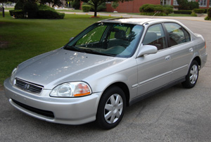 Two Honda Civics Stolen over the Weekend