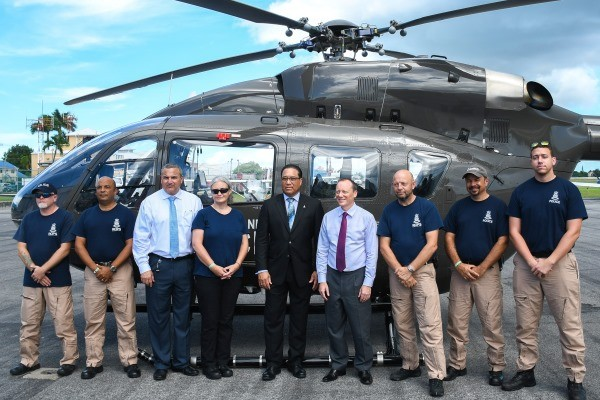 Police Helicopter Returns From The Bahamas