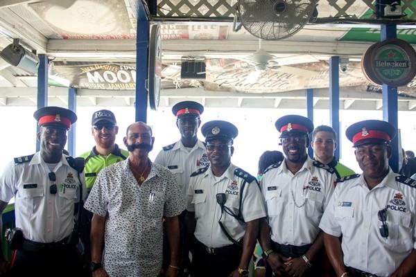 West Bay Community Officers Conduct Seven Mile Public Beach Walkthrough, 16 April
