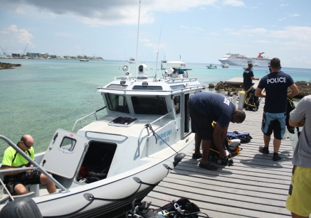 RCIPS Dive Team Conducts Exercise at the Kittiwake, 30 April