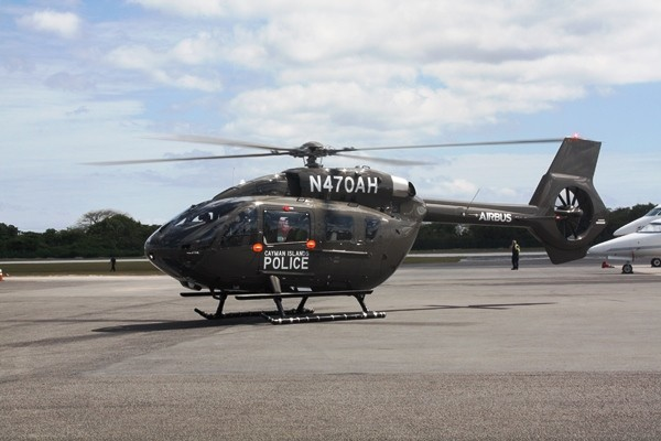 New Police Helicopter, the Airbus H145, Arrives at RCIPS Air Operations Unit