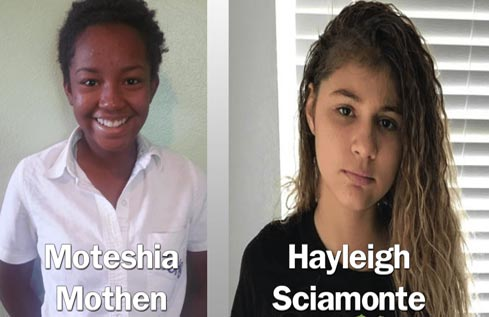 Hayleigh Sciamonte and Moteshia Mothen Missing