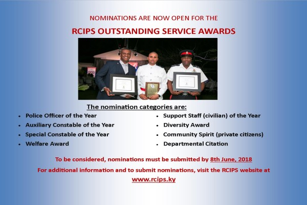 RCIPS OUTSTANDING SERVICE AWARDS