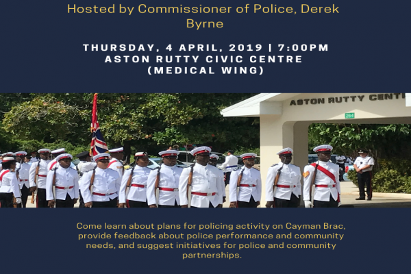 RCIPS Hosting Community Meeting on Cayman Brac this Thursday, 4 April