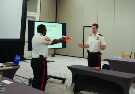 RCIPS Community Officer Leads Robbery Prevention Training for Businesses