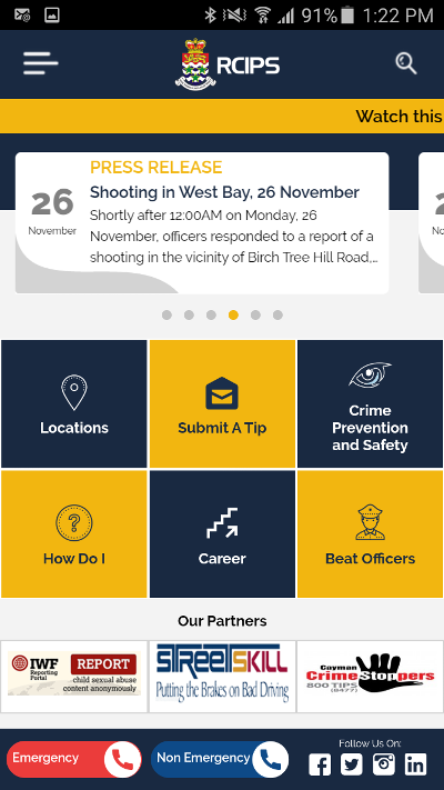RCIPS Launches Mobile App of Website for Android and iPhone, 28 November