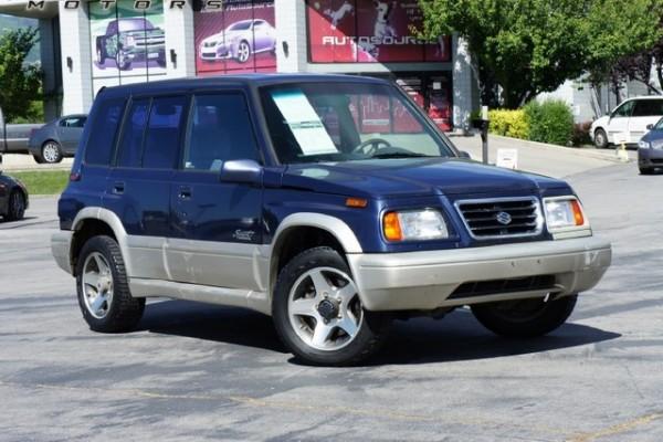 Stolen Vehicle: Blue Suzuki Sidekick