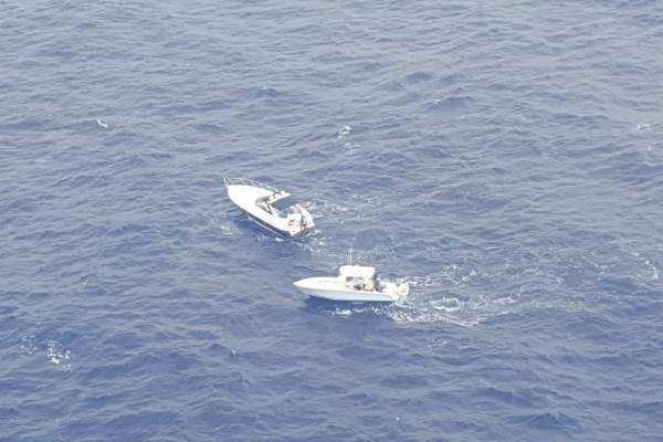 Police Assist Vessel at Sea, 21 August