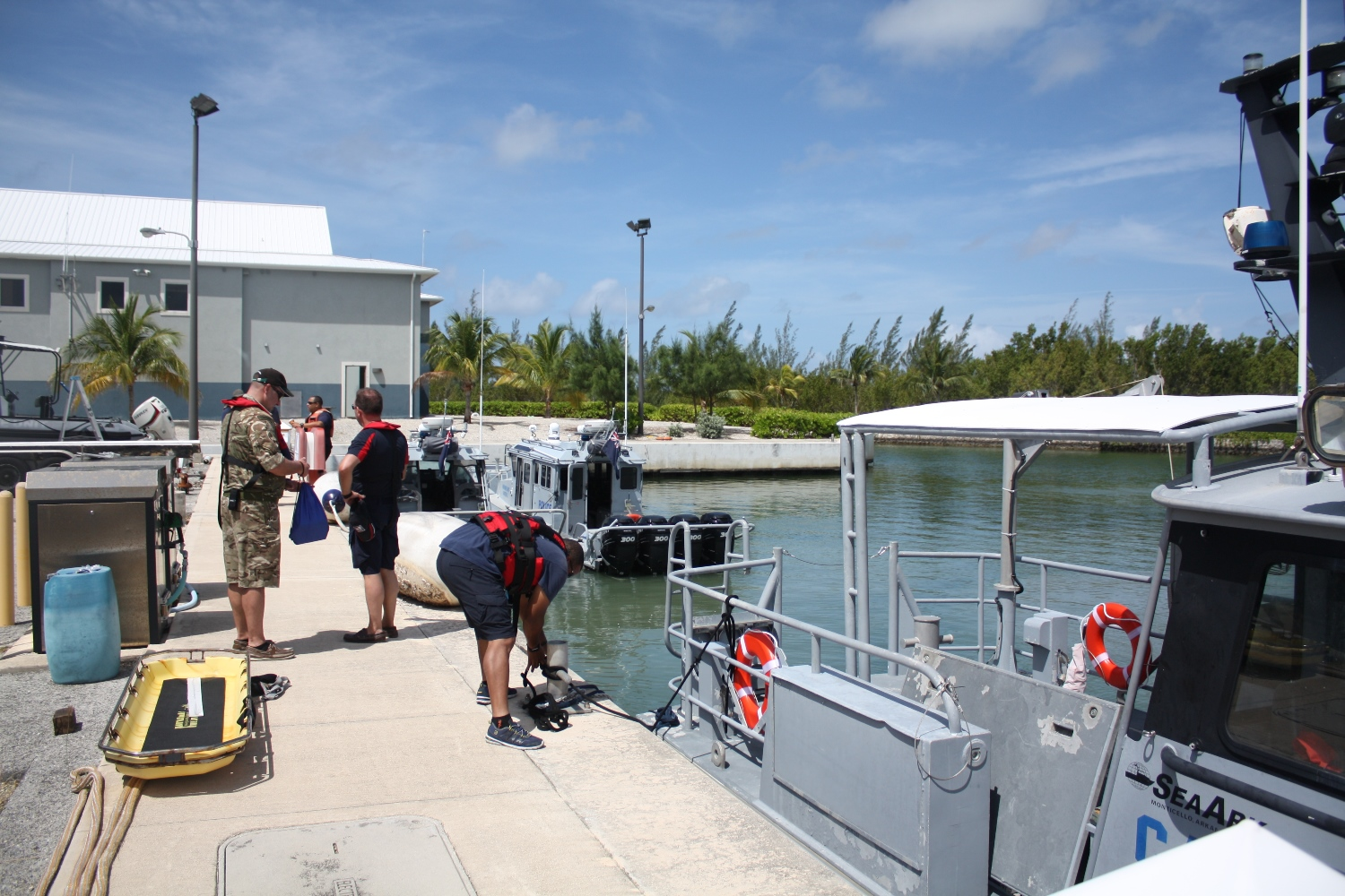 Preparing for an on-the-water training session