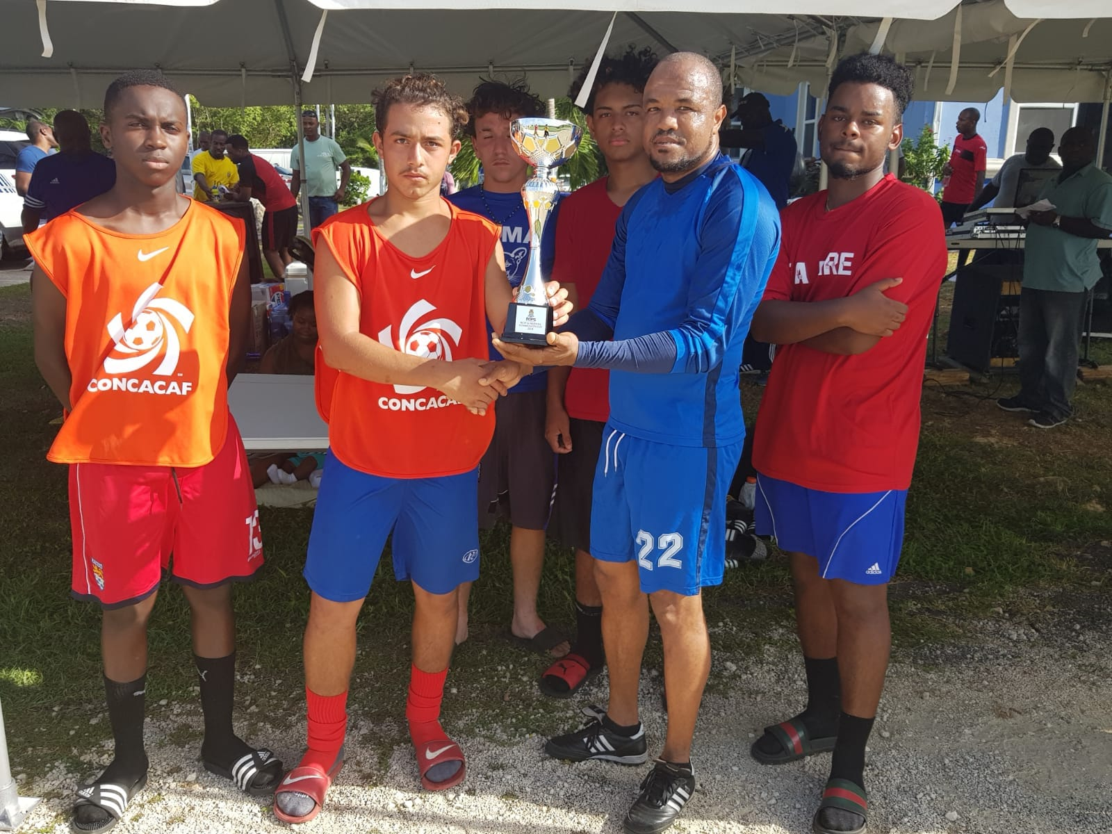 Boyz 2 Men beat the Cayman Under 17 team to secure the Youth Community Cup