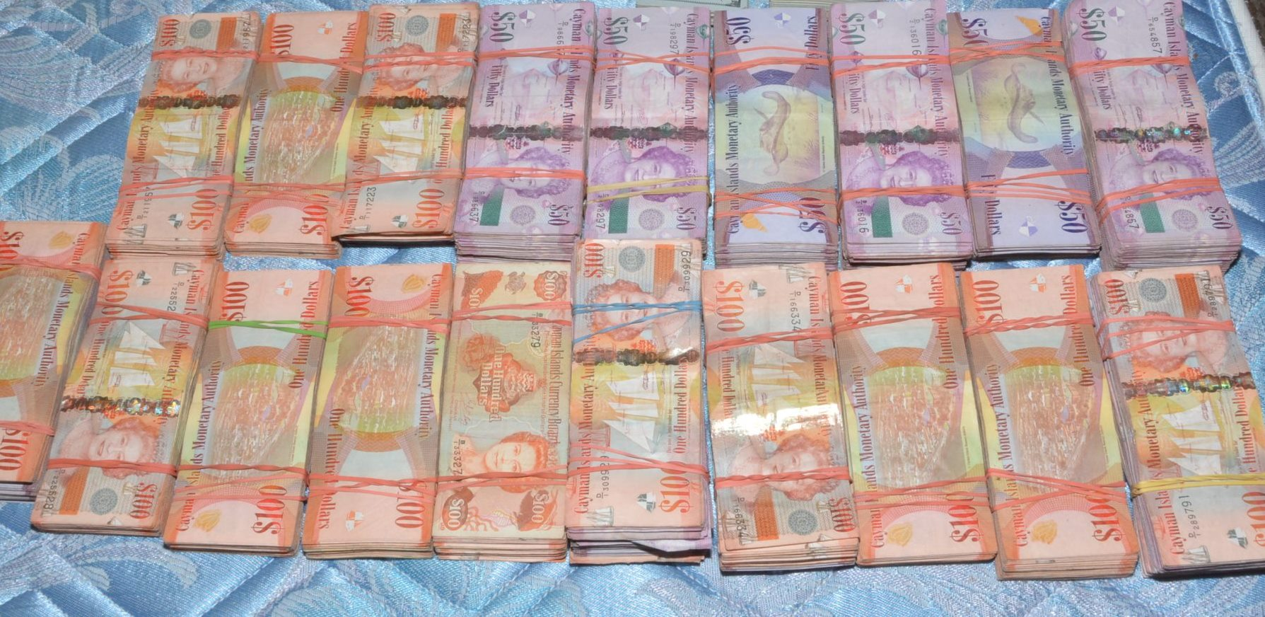 A significant amount of cash was found at the location.