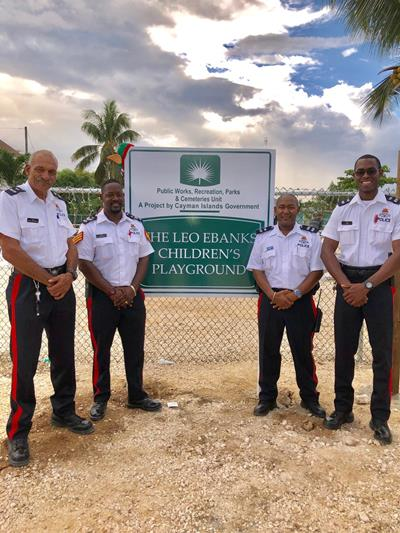 WB CPD Officers at Opening of Leo Ebanks Playground, 15 December