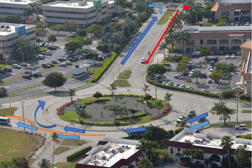 Southbound traffic will not be permitted to turn right at the Cost-U-Less roundabout.