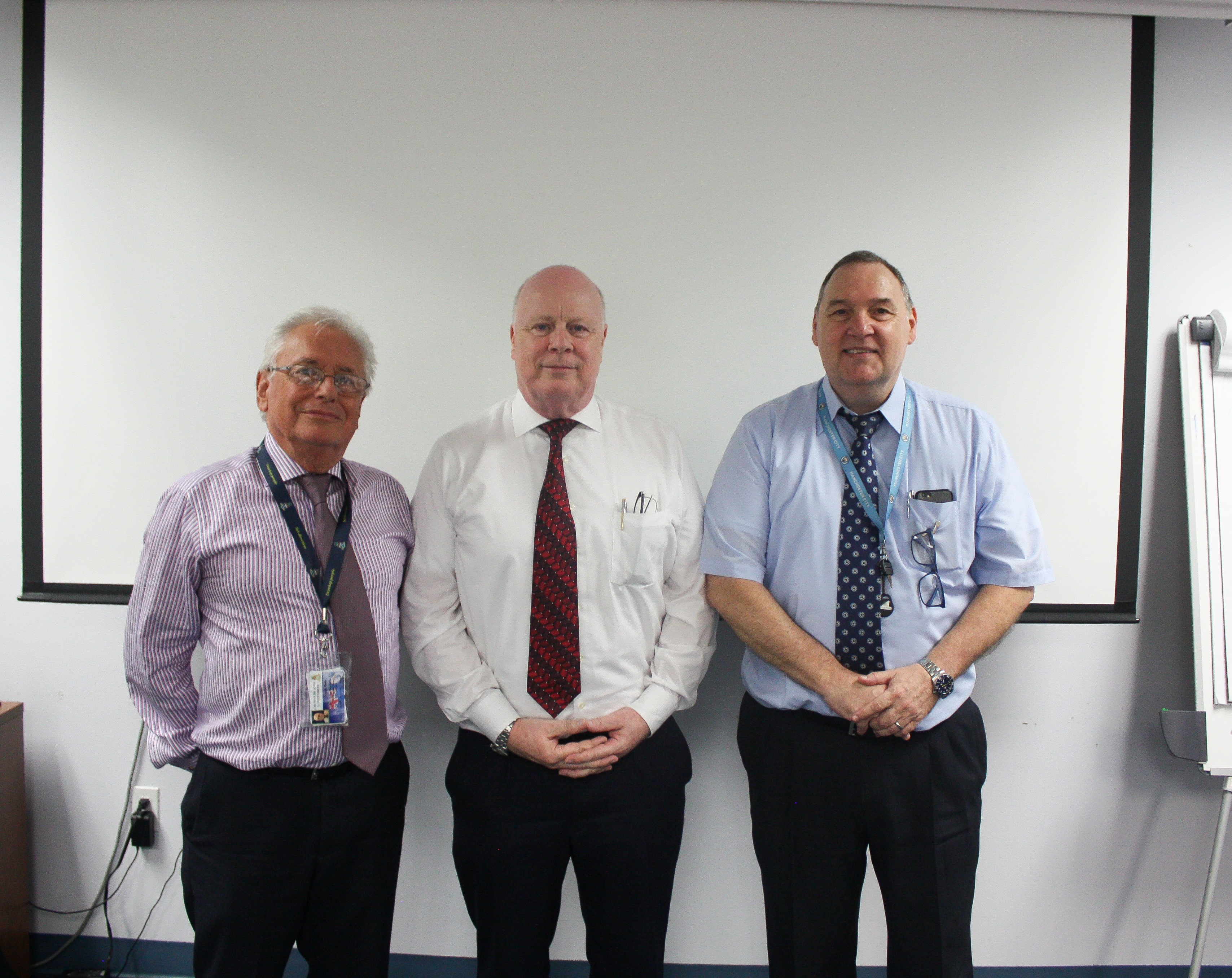 Peter Gough of PoCS, Dennis Walkington of the ODPP, & Peter McLoughlin of the Office of the Ombudsman attended the session
