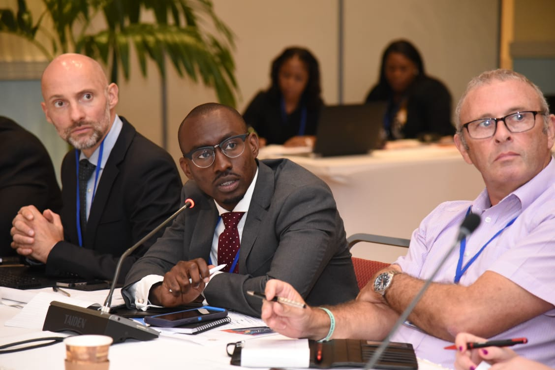 Crown Counsel Garcia Kelly (Middle) & FCU Financial Investigator Dean Murray (Right) represented Cayman at the ARIN-Carib AGM in early September.