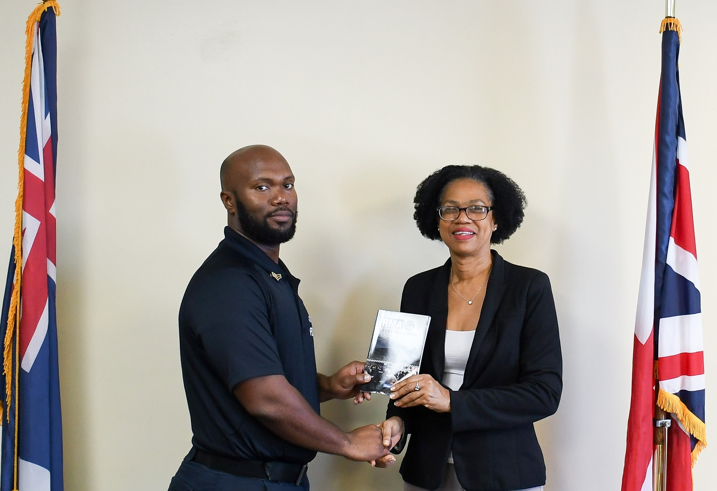 PS Maragh was also presented with a copy of the book