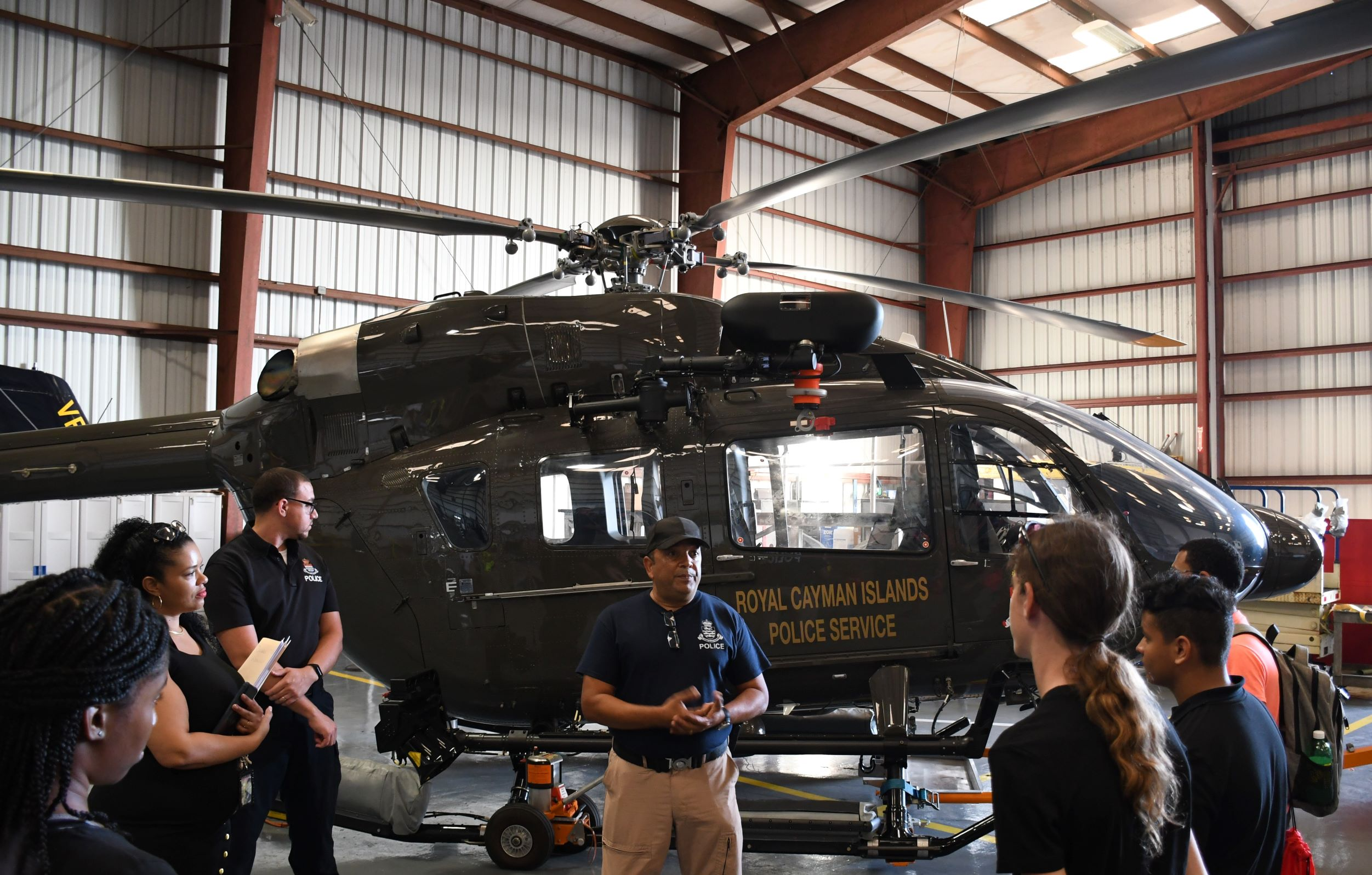 Neil Mohammed, Deputy Unit Executive Officer of the Air Operations Unit, speaks about the role of the police helicopter.
